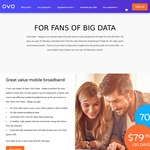 70GB of Data for $79.95 / 30 Days with OVO Mobile (BYOD)