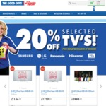 20% off Selected TVs @ The Good Guys