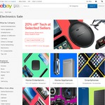 eBay 20% off Tech at Selected Stores (eg. Dell Inspiron 11 3000, Pentium N3710 Quad Core, 4GB RAM, 128GB SSD, $319.20)