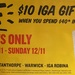 Free $10 IGA Gift Card When you Spend $40 in One Transaction - Spano's Supa IGA Stores Only (QLD)