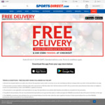 Free Standard Delivery on Orders over $20 (or Equivalent Currencies) When You Order Via The SportsDirect.com App