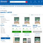 Apple iPad Wi-Fi 32GB (Gold/Silver/Grey) $395 @ The Good Guys | $394 @ Officeworks