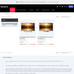 Sony 4K TV Sale | KD49X8000E $849 | KD55X9300E $1795 | Delivered @ Sony