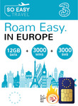 Europe 4G/3G Travel SIM $34.80 (40% off) - 71 Countries, 12GB Data, 3000 Min Calls, 3000 Texts to UK & EU @ So Easy Travel
