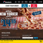 New Yorker Range $14.95 Pick up / $19.95 Delivered @ Domino's