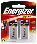 Energizer Max 9V Alkaline Batteries - 2 Pack $6.05 @ Bunnings