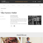 [NSW] 40% off Storewide at Nike Factory Store (Birkenhead Point)