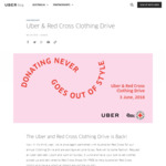 Free Collection of Unwanted Clothes by Uber to Deliver to Red Cross (Sunday June 3)
