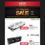 MSY - ASUS RX 580 8GB TOP Edition $359 and Galax GTX 1070 Ti $649