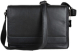 MONSAC 19438 Rambler Leather Large Messenger Bag: Black $150 (was $449) @ Myer