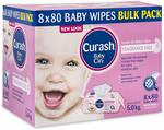 [Amazon Prime] Curash Fragrance Free Baby Wipes 8x80 Pack for $12.99 Delivered @ Amazon AU
