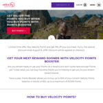 Velocity Points Booster - 15% off