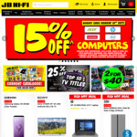 Samsung Galaxy S9 256GB $1099, 25% off Selected TV Titles and 15% off Computers @ JB Hi-Fi