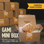 [ACT] Free Gami Mini Chicken Box, Thurs 18/10 & Fri 19/10 12PM & 5:30PM @ Gami Chicken (Canberra Centre)