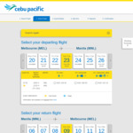 Melbourne to Manila, Philippines from $208 Return Direct on Cebu Pacific (Feb-June)