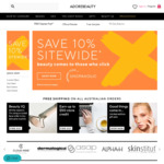 10% off Sitewide (Exclusions Apply) @ Adore Beauty
