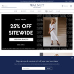 Walnut Melbourne Black Friday 25% off Site Wide