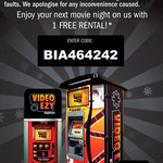 One Free Overnight Movie Rental @ Video Ezy Express Kiosks