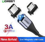 Ugreen USB2.0 Fast Charging Magnetic MicroUSB/Type C Cable $0.49 Delivered @ Ugreen eBay