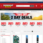 2 Day Deals - 50% off Selected Items @ Supercheap Auto