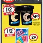 ½ Price Connoisseur Ice Cream Varieties 1L $4.79, Zoopers $2.50 @ IGA