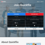 Quickflix Streaming Service (Basic Access, 41 Movies Only) Unlimited Time Free Trial