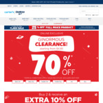 25% off Full Priced Products & up to 70% off past Season Styles (Items from $4.85) @ OshKosh B'gosh