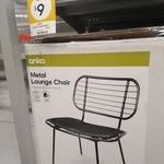 [QLD] Metal Lounge Chair (with Cushion) $9 @ Kmart (Kippa Ring)