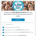 Collect up to 6,000 Bonus Points When You Spend $40 or More in One Shop Each Week for 3 Weeks @ Coles