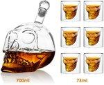 Amzdeal 6x Crystal Skull Head Wine Glass (75ml) + 1x Wine Decanter Wine Carafe (700ml) $18.49 + Post (Free w Prime/$49) @ Amazon