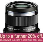Olympus 45mm F1.8 Lens $260.68 Delivered (AU Stock) @ No Frills Camera eBay