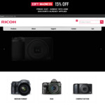 15% off + Free Delivery @ Pentax Australia Website
