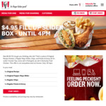 Fill Up Slider Box $4.95 (until 4pm) @ KFC (Selected Stores)