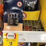 Pack of 2 Combination Padlocks $2 @ Coles (Instore Only)
