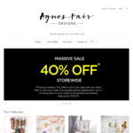 40% off Storewide (Nursery Decor and Swaddles) @ Agnes Fair Designs