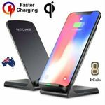 Qi Wireless Fast Charger Dock - 2 for $14.96 + Delivery ($0 with eBay Plus) @ Apus Express eBay