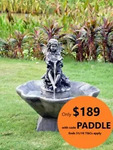 Extra 10% off All Solar Powered Garden Water Feature Fountains over $100 @ BringBrightness eBay