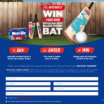 Win 1 of 10,000 Personalised Cricket Bats from Weetbix