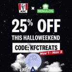 25% off KFC Delivery Orders Placed through The Menulog App or Website