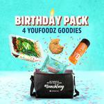 Birthday Cake Protein Cookie, Youjuice, and Smokey BBQ Chicken & Potato Salad in a Cooler Bag $7 (Min. $49 Spend) @ Youfoodz