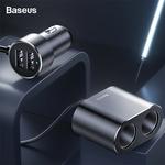 Baseus Car Splitter Cigarette Lighter 12V-24V Dual USB Car Charger Socket AU$12.85 Delivered @ eSkybird