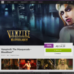 [PC] Vampire: The Masquerade - Bloodlines for $14.59 AUD (50% off RRP, DRM Free) @ GOG.com