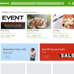Groupon 15% Cashback @ Cashrewards (Stack with 10% off Sitewide @ Groupon)