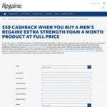 Regaine $50 EFTPOS Card Cashback