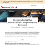 Six Month Extension for Qantas Club Memberships and Lounge Invitations