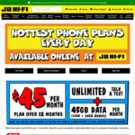 Telstra Post Paid $45/Month 45GB 12 Month SIM Only Plan + $100 Telstra Welcome Credit via Port IN @ JB Hi-Fi Online