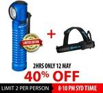40% off Olight Perun Headlamp Limited Edition Blue 2000 Lumens (Was $161.90) Now $97.14 @ Olight