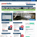 25% off Sitewide (Free Shipping) @ Power Bulbs