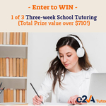 Win 1 of 3 Three-Week School Tutoring Packages (Total Prize Worth over $710)