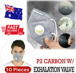 10x KN95 (P2) Respirator Face Mask with Exhalation Valve Filter $25.99 Delivered @ Ozbuyitnow eBay Australia